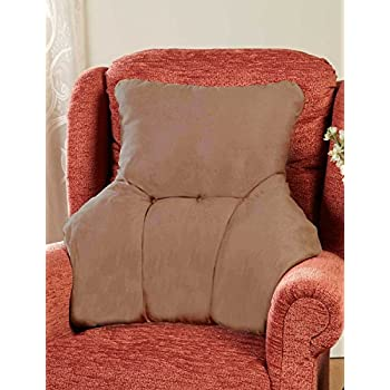 Fleece Back Rest Lumbar Support Aid Armchair Cushion Cream ...