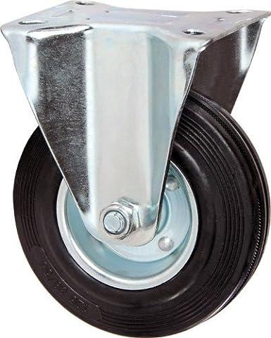 Gummiräder mit Rad Festplatte Ø 80 mm Tragkraft 60kg Platte 105x85 mm