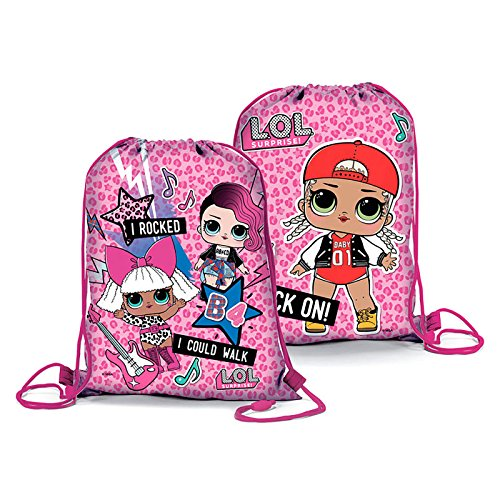 Zaino piatto Sacco Lol Surprise 39x31 cm (Fuxia)