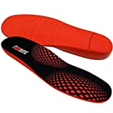 JobSite® Boot/Hiker Comfort Support Orthotic Insoles with Arch Support, Metatarsal Cradle & Heel Cup for Plantar Fasciitis, Flat Foot, Shin Splints & Foot Pain Relief - Size L Men 11-12 1/2 and women are 12+(54021)