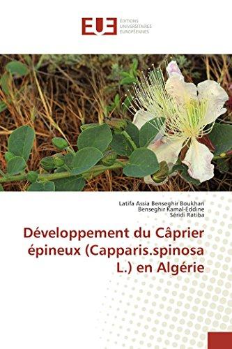 Développement du câprier épineux (capparis.spinosa l.) en algérie