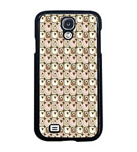 Fuson Premium Cute Hearts Metal Printed with Hard Plastic Back Case Cover for Samsung Galaxy S4 i9500
