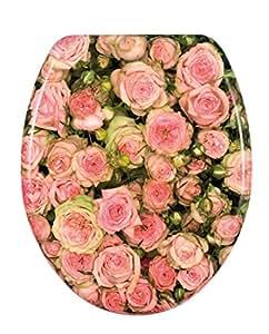 Wenko 17628100 Abattant Motif Imprimé Roses