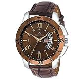 SWISSTONE Analogue Brown Dial Men's Watch - Sw-G350-Brwn