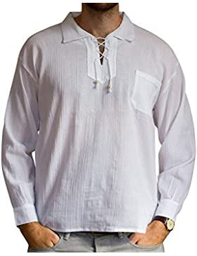 Sommer Bluse mit Tunnelzug aus Baumwolle, ethisch gehandelt, lange Ärmel - aus Ecuador für Tumi gefertigt - leichtes...