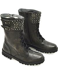 Twin-Set Stivale Texano Alla Caviglia Donna Pelle Nero Art. A3/c/cpa3bg 36 Nero - Black vfHQAV