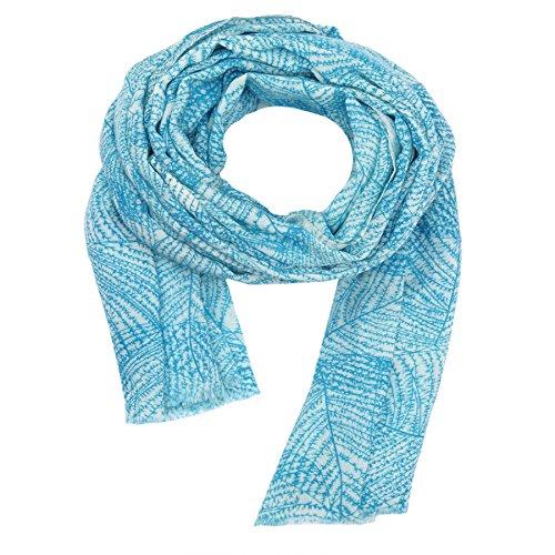 KASHFAB Kashmir Damen Winter Mode Gedruckt Schal, Wolle stole, Weich Lange Schal, Warm Paschmina Blau 7 (Streifen Herren Gemalt)