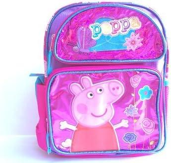 New Peppa Pig Shine Pink Large Backpack(1666)   Digne