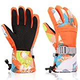 Yidomto Ski Gloves, Waterproof Warmest Winter Snow Gloves for Mens, Womens, Boys, Girls