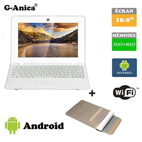 Tablet, Notebook, Netbook, Android 4.2, HDMI, Screen 10 Inch WiFi SD MMC + Laptop Bag white White 10.1 pouces