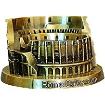 PROW® Metal Roma Modelo del Coliseo Bronce Retro Arquitectura Antigua Hecho a Mano Arte Casa