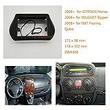 Zwnav Car Audio Radio Cadre de montage panneau de façade d'autoradio pour CITROEN Nemo 2008+/Peugeot Bipper 2008+/Fiat Fiorino, Qubo 2008+ stéréo Façade d'autoradio Dash CD Trim Kit d'installation