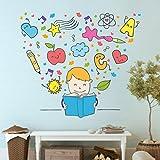 StickMe 'Kids Reading - Learning Wall Sticker'- SM 085 ( PVC Vinyl - 100cm X 100 Cm )