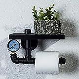 FuweiEncore Planchas de Papel higiénico Hierro Retro Estanterías Estilo Industrial (Color: E) (Color : A, tamaño : -)
