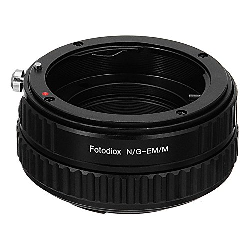 Fotodiox Pro Lens Mount Adapter, Nikon Nikkor (Including G & D-Type) Mount Lens to Canon EF-M (EOS M) Mirrorless Digital Camera System with Macro Focusing Helicoid