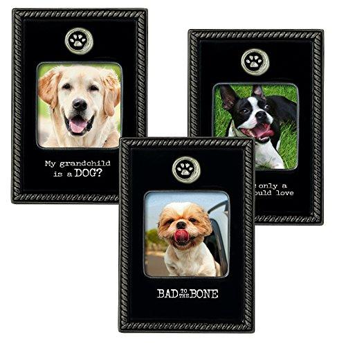 prairies-road-dog-pet-peeve-cadres-en-ceramique-2-1-5-par-2-1-127-cm-noir-6-pack