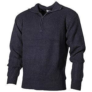 MFH Isländer Pullover, Troyer, blau, mit Reißverschluß