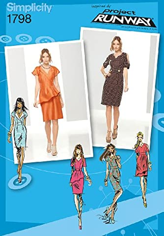 Simplicity 1798.D5 Project Runway Collection Patrons robes de miss Taille 32-34-36-38-40