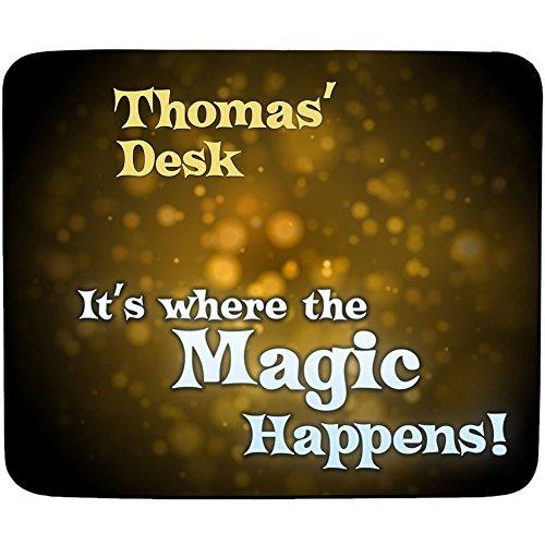 Tomas'Schreibtisch It's, wenn die Magic Happens! personalisierbar Mauspad-Premium - 5 mm dick