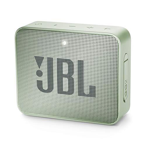 JBL GO 2 kleine Musikbox in Mint – Wasserfester, portabler Bluetooth-Lautsprecher mit Freisprechfunktion – Bis zu 5 Stunden Musikgenuss mit nur einer Akku-Ladung