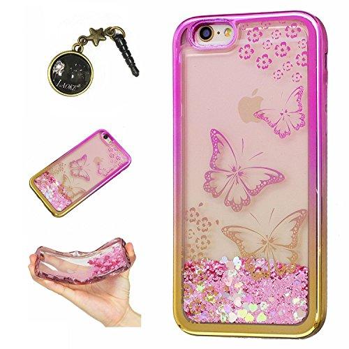 Laoke für Apple iPhone 6 Plus (5.5 Zoll) Hülle Schutzhülle Handy TPU Silikon Hülle Case Cover Durchsichtig Gel Tasche Bumper ( + Stöpsel Staubschutz) (5) 6
