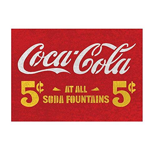 J BOUTIQUE STENCILS 5 cent coca cola stencils Reusable stencil for wall art craft DIY decor by J BOUTIQUE STENCILS
