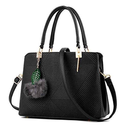 HUAYUN , Damen Rucksackhandtasche Schwarz