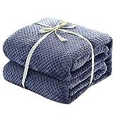 SIKESONG Decke Farbe Waschbaren Weichen Warmen Sofa Decken Tagesdecke Bett Erwachsener Tartan Decke Blau 100 X 140 cm