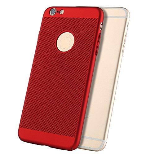 Liamoo® Apple iPhone 6 / 6s Hülle / Case / Schutzhülle aus Kunststoff gelocht mit Logoausschnitt in blau rot
