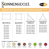 CelinaSun 0010535 Sonnensegel Sonnenschutz Garten | UV Schutz PES wasser-abweisend imprägniert | Dreieck 5 x 5 x 5 m creme-weiß - 5