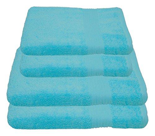 Julie Julsen Handtuch Set 2x Duschtuch 2x Handtuch Babyblau / in 23 Farben erhältlich weich und saugstark