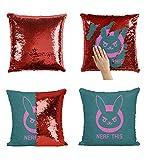 Nerf This Cartoon Kissen, Sequin Pillow, Mermaid Pillow, Reversible Pillow, Kissen, Kissenbezug, Funny Pillow, Xmas, Geschenk, Weihnachten (Kissen + Einsatz)