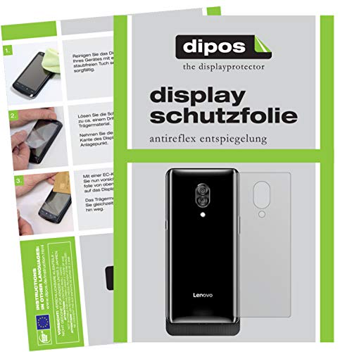 dipos I 2X Schutzfolie matt passend für Lenovo Z5 Pro GT Rückseite Folie Bildschirmschutzfolie