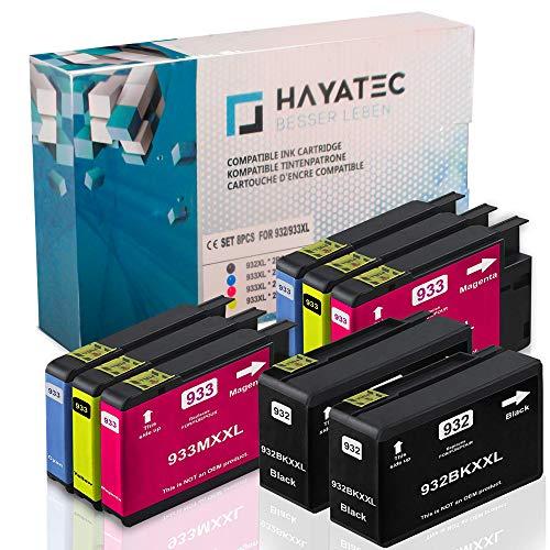 omp. Für HP 932 XL 932XL 933 XL 933XL für HP Officejet 6600 6700 6700 Premium 6100 7612 7110 7610 Patronen Tintenpatronen ()