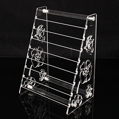 Wchaoen Acryl Display Rack Charms Perlen Bangle Jewellry Floral stehen 2 Wege Werkzeugzubehör Perlen-rack