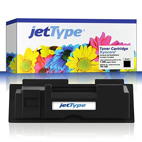 jetType Toner ersetzt Kyocera TK120 (1T02G60DE0) für FS-1030D / FS-1030DN, schwarz, 7.200...