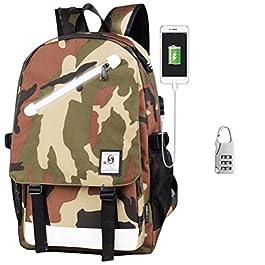 Withu Kyd Unisex Cool Ragazzi Ragazze Uomini Donne all' Aperto Zaino da Viaggio Zaino Anime Luminoso Zaino Zaino a Tracolla Scuola Borsa per PC Portatile, con Porta di Ricarica USB