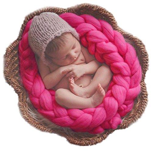 kingko® Baby Twist Fotografie Matten für Baby etwa 0-4 Monate alt Heißes Rosa
