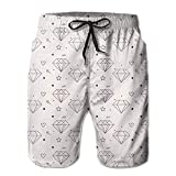 Jiger Diamond Heart Pattern-01 Cool Short Beach Shorts Summer Boardshort Camping