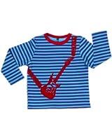 Rockabye-Unisex Baby Guitar Tee shirt Long Sleeve T-Shirt (Blue/Purple)