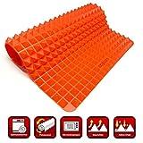 Collory Backmatte-Silikon mit Pyramiden-Noppen | Wiederverwendbare Backunterlage für Backblech | Antihaftend | Hitzebeständig bis 240°C | Größe 39 x 27.5 x 1.2 cm | Lebensmittelecht (BPA-frei)