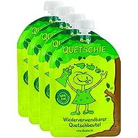 ❤ divata Quetschies, 170ml - wiederverwendbare Quetschbeutel zum selbst befüllen mit u.a. Babynahrung, Yoghurt, Smoothies, Obstmus