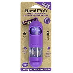 HandiPOD Poop Bag Dispenser with Lemon Scented Hand Sanitiser, Purple 21