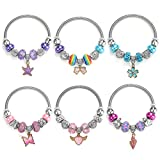 Powerking Braccialetto per Bambini, 6 Set Braccialetti di Gioielli per Bambine Pandora Set per Dress Up Fingi per Giocare a Birthday Party Favour
