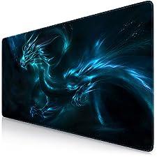 Sidorenko XL Gaming Mauspad | 900 x 400mm | Mousepad | spezielle Oberfläche verbessert Geschwindigkeit und Präzision | Fransenfreie Ränder | Rutschfest | Blau