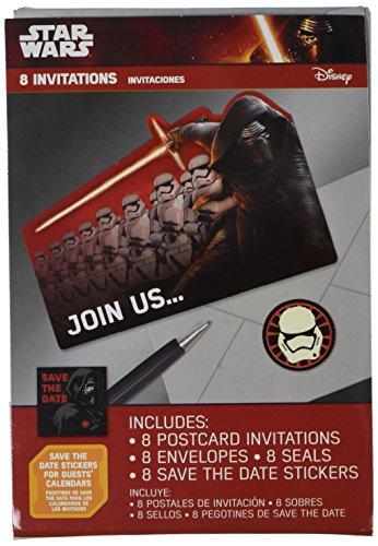 Star WarsTM Episode VII Postcard Invite, Party Favor