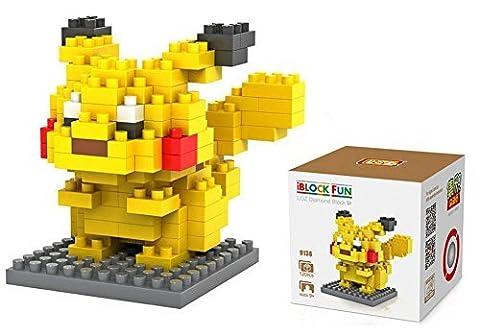 Carchet DIY Block-Set Legendäre Pokemon-Figuren zum Aufbauen XY, Moon als Geschenk-Artikel Box, Pikachu