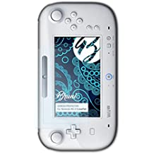 Bruni Película Protectora para Nintendo Wii U GamePad Protector Película, claro Lámina Protectora (2X)