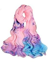 1c285d7109bc 5 ALL Echarpe Foulard Femme Impression Anti uv Coloré En Soie Jolie Grand  Foulard Soie Femme