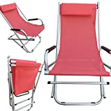 #10: Amaze Folding Rocking, Oscillating,Gliding Aluminium Relax, Light Weight,Portable, Outdoor Easy Chair, RED